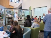 Ivy telling her story at Greenwich Library 8th April 2016